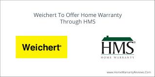 weichert to offer home warranty through hms