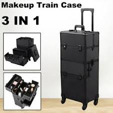 pro rolling large makeup trolley train