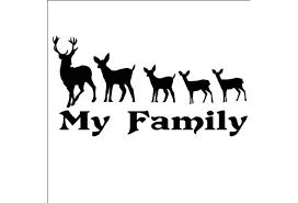 23 Cm 12 Cm My Deer Family Kids Vinyl Decal Sticker Car Truck Hunting Funny Wish