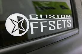 Co D24w4 24 Custom Offsets Set Of 4 Wheel Decals