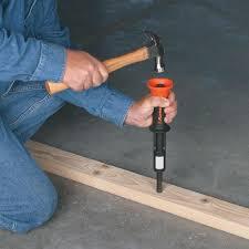 how to use a concrete nail gun