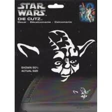 Star Wars Yoda White Die Cut Vinyl Decal Walmart Com Walmart Com