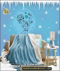 Decorating Theme Bedrooms Maries Manor Elsa Frozen Bedroom Decor Frozen Theme Elsa Bedroom Elsa Theme Bedroom Ideas Princess Disney Frozen Winter Theme Decorations Frozen Room Decorating