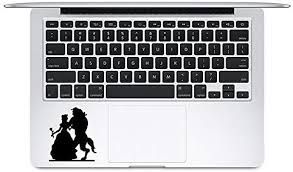Amazon Com Trackpad Beauty And The Beast Apple Macbook Decal Vinyl Sticker Apple Mac Air Pro Laptop Sticker Kitchen Dining