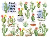Cactus Succulent Waterslide Sheet Laser Printed Tumbler Decals No Made By Momma Waterslides