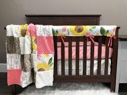 custom girl crib bedding sunflower