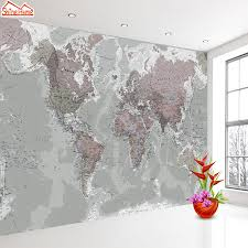 Gray Modern World Map Wall Decal Big Savings Direct Why Pay More For A Label