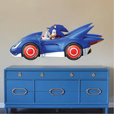 Sonic Sega Wall Decal Video Game Race Car Wall Decor Removable Kids Be American Wall Designs