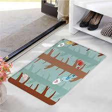 trees vector kitchen rug set 2 pieces
