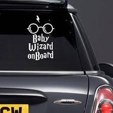 Baby Wizard On Board Car Sticker Car Window Decal New Baby Etsy