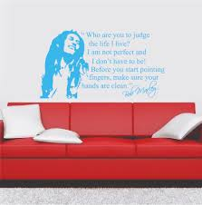 Bob Marley Quote Who Are You To Judge The Life I Live Wall Decal Wall Sticker Usa