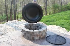 patio concrete block fire pit belezaa