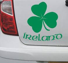 Irish Shamrock 1 Ireland Eire Vinyl Decal Car Bike Bumper Etsy