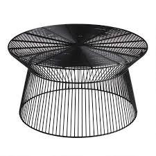 black metal zeke outdoor coffee table
