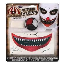 blue banana evil clown makeup kit