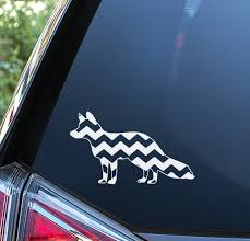 Fox Chevron Sticker For Car Window Bumper Or Laptop Free Etsy