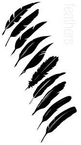 Pin by Rosanne Smith on 1. Design Typography   Feather, Feather ...