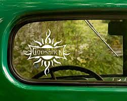 Amazon Com 2 Godsmack Decal Rock Band Stickers White Die Cut For Window Car Jeep 4x4 Truck Laptop Bumper Rv Home Kitchen