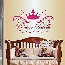 Wall Vinyl Decal Home Decor Art Sticker Princess Crown Stars Etsy