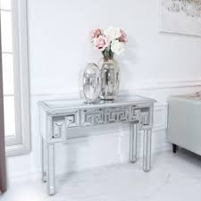 greek style mirrored console table