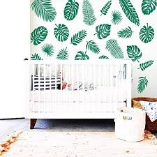 Amazon Com Palm Leaf Decals Palm Leaf Wall Decals Tropical Leaf Decals Palm Leafs Decals Palm Leaf Stickers Gift For Her Wife Gift Ga106 Handmade