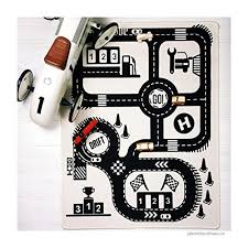 Baby Road Adventure Game Playmat Floor Carpet For Kids Room Decor Bedroom Cotton Carpet Activity Crawling