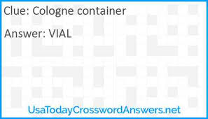 cologne container crossword clue