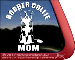 Border Collie Mom Dog Decals Stickers Nickerstickers