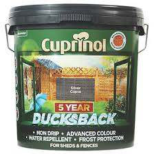 Cuprinol 5 Year Ducksback Water Based Fence Treatment Silver Copse 9ltr Fence Paint Screwfix Com