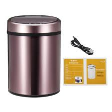 8liter 2 1 Gallon Round Dustbin Stainless Steel Touch Free Sensor Automatic Touchless Trash Can Garbage Bin For Home Office Living Room Kitchen Walmart Com Walmart Com