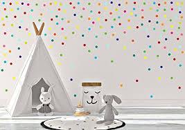 Amazon Com Rainbow Confetti Polka Dot Wall Decals Kids Room Nursery Wall Decal Polka Dot Sticker Polka Dots Art Baby Room Decals Polka Dot Decals Handmade