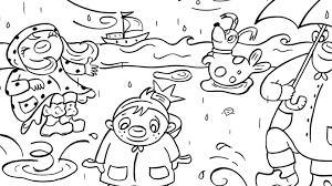 Het Zandkasteel Regen Kleurplaten Diy Zappelin