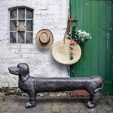 Dave The Dachshund Dog Garden Bench Livs
