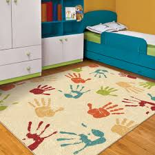 Orian Rugs Kids Indoor Outdoor Handprints Area Rug Walmart Com Walmart Com