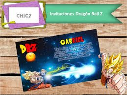 Invitaciones Dragon Ball Z Digital Imprimible Whasapp 150 00