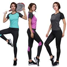 Women Yoga sets Gym suits Fitness High Elastic shirt Running clothing skiny  Jogging Workout compression Leggings pants W102| | - AliExpress