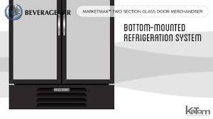 two section glass door merchandiser 2