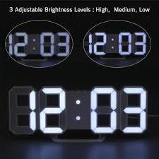 white led wall clock alarm clock snooze