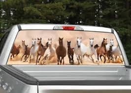 Wild Horses Running Rear Window Decal Graphic For Truck Suv Ebay