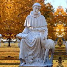 saint statue bronze statue virgin