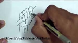 How To Draw Manga Hand 1 كيف ترسم يد مانجا ١ Youtube