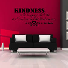 Kindness Is The Language Lettering Words Wall Art Decal Vinyl Wall Sticker Mural Home Decor Inspiration Inspiration Home Decor Olivia Decor Decor For Your Home And Office