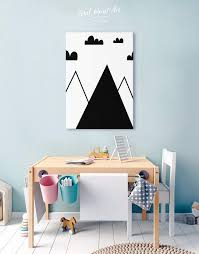 Mountain Nursery Wall Art Canvas Print At Texelprintart