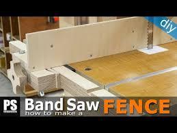 How To Make A Band Saw Fence Youtube