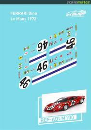 Ferrari Dino 246 Gt Bp Atalaya Slot Decals Adlm100