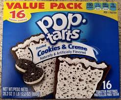 pop tarts frosted cookies and creme