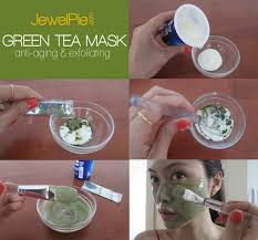 diy green tea mask exfoliating anti
