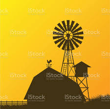 Farm Windmill Barn Fence House Field Stock Illustration Download Image Now Istock