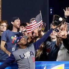 This photo of Adam Jones' heroic World Baseball Classic catch ...