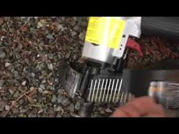 Harbor Freight Roofing Nailer Using Siding Nails Youtube
